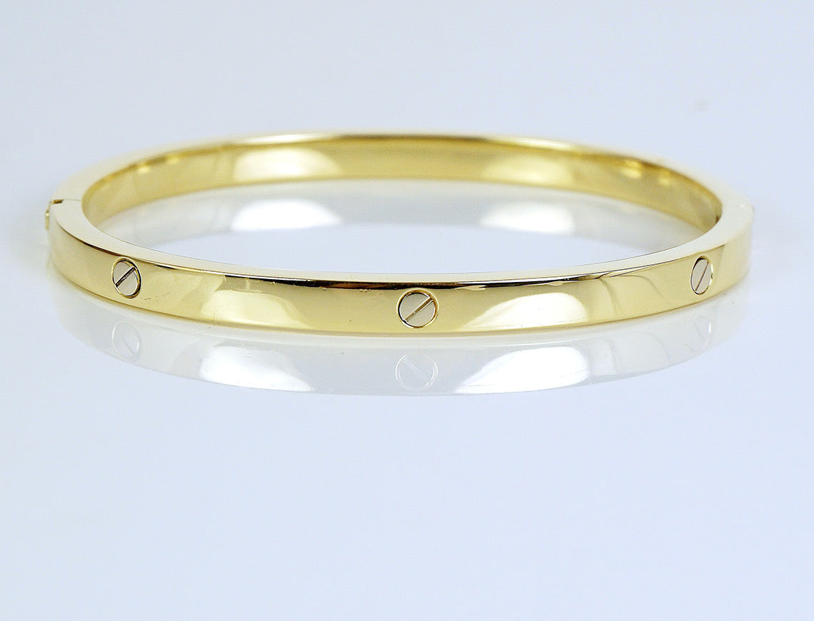 Stackable Italian bangle bracelet