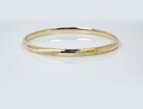 14K slipover bangle bracelet