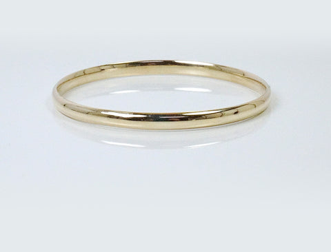 Polished slipover bangle bracelet