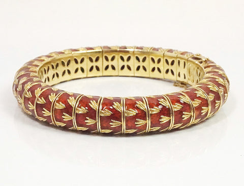 Italian-made enamel bracelet by Frascarolo