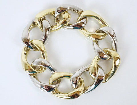 Bold two-tone bracelet by Jose Hess