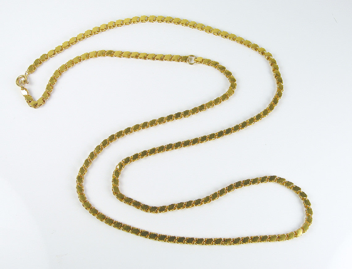 Adjustable Length Gold Necklace