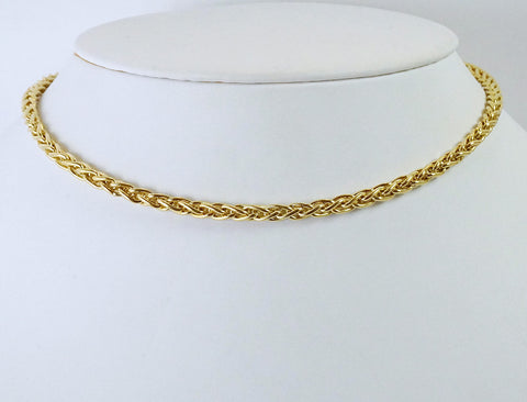 Heavy gold Spiga chain