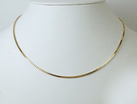 Italian-made box chain for man or woman