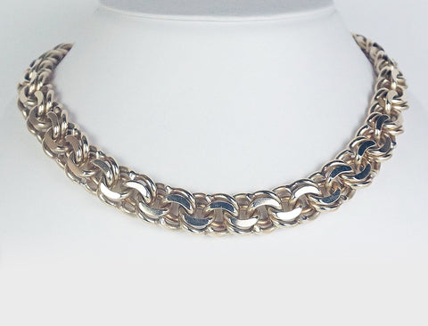 Heavy Bismarck link necklace