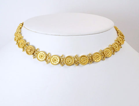 Unique 22K necklace and bracelet combination