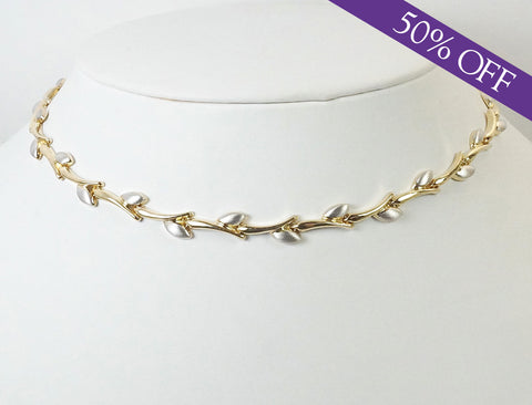 Two-tone Italian gold necklace -  ORIGINAL PRICE: $750