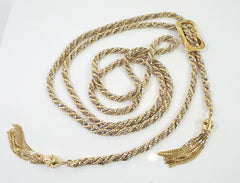 Gold Rope Necklace with Tassels