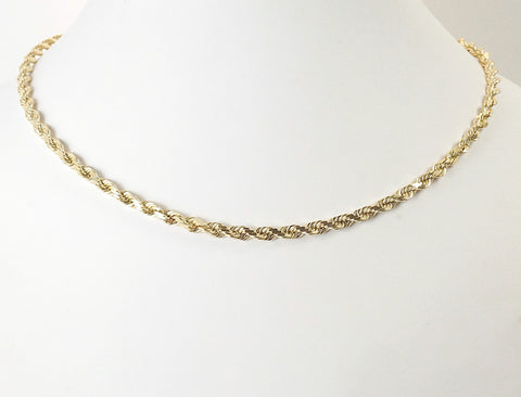 14K Solid rope chain