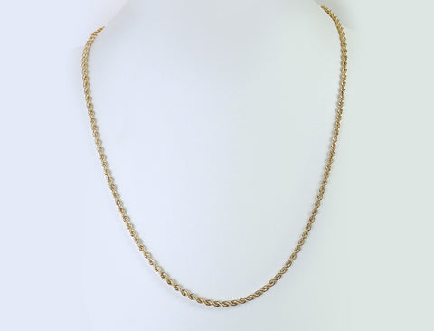"24"" solid rope chain"