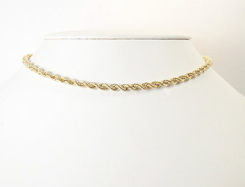 Gold rope choker