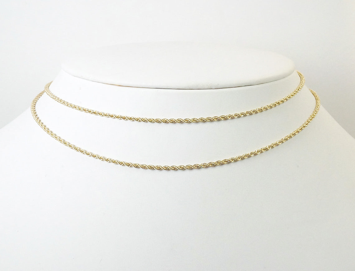 1.75mm solid French rope chain