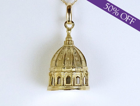 18K Vatican Cathedral dome - ORIGINAL PRICE: $1150