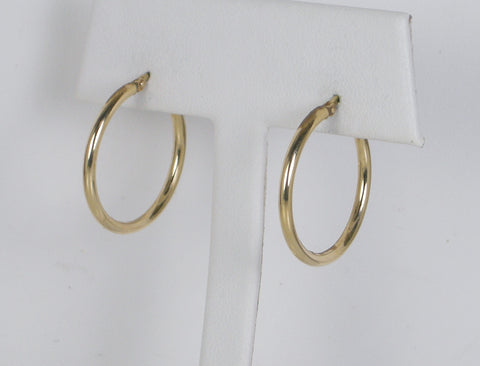Polished hoops of gold