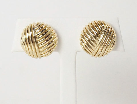 Non-pierced wire dome earclips
