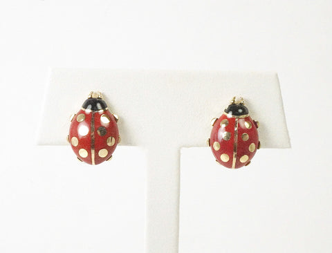 Ladybug earrings by Cartier