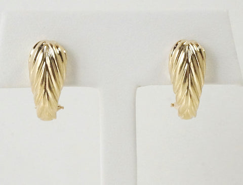 Fluted earrings of 14K