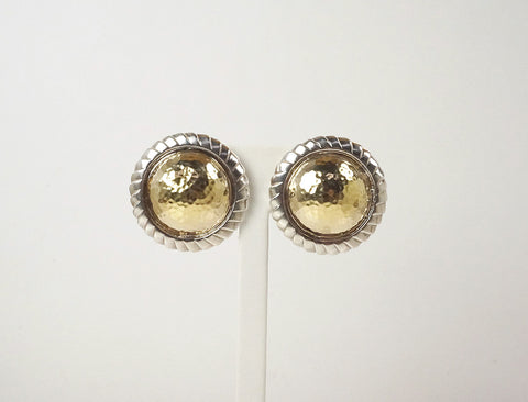 Big domed clip earrings