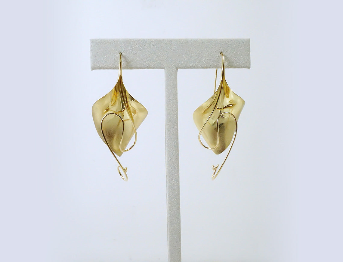 Dramatic earrings by Michael Good