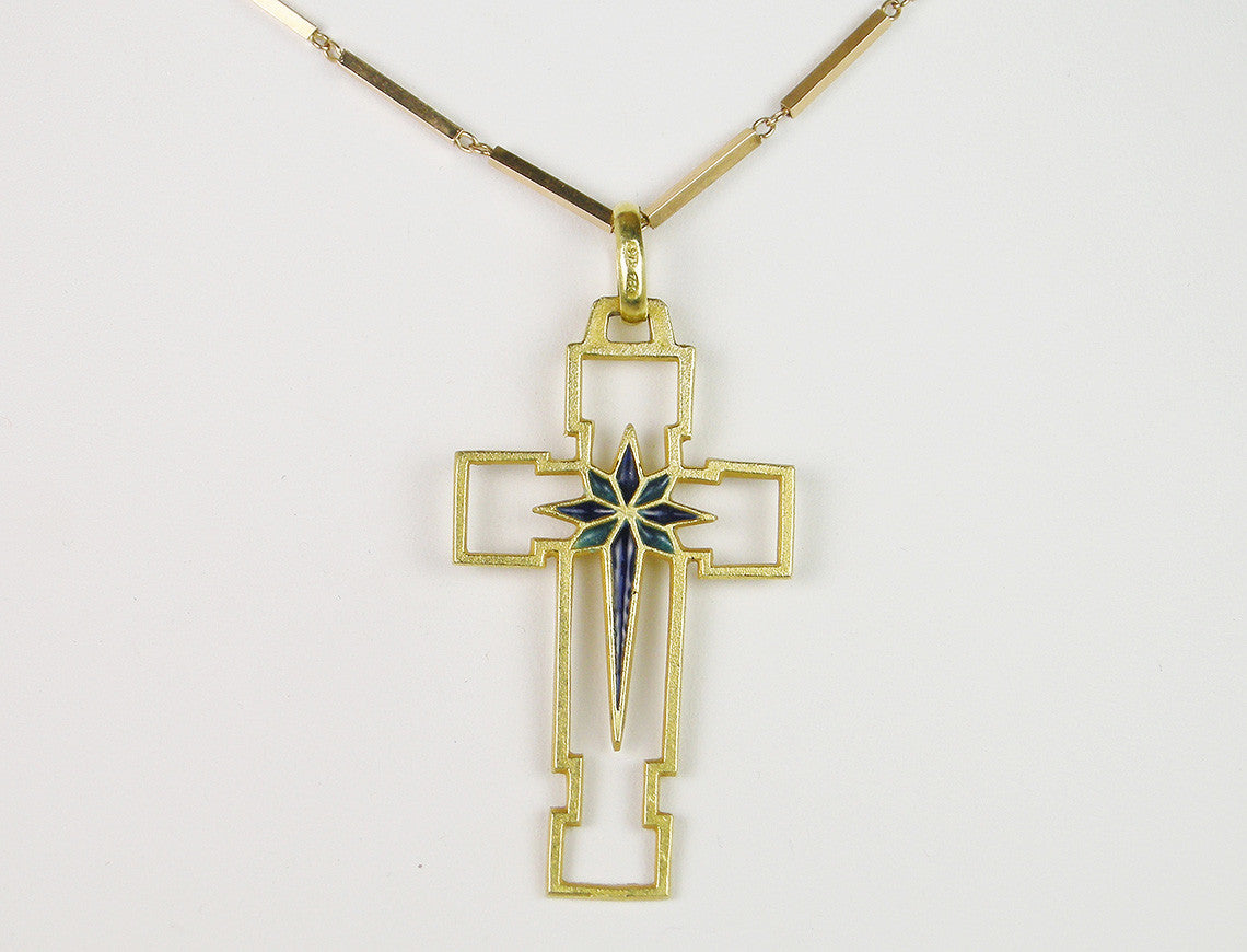 Gold and enamel cross