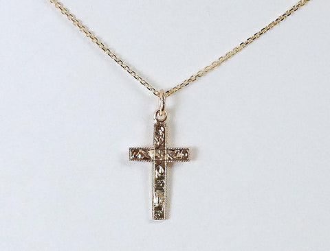 Hand-engraved cross