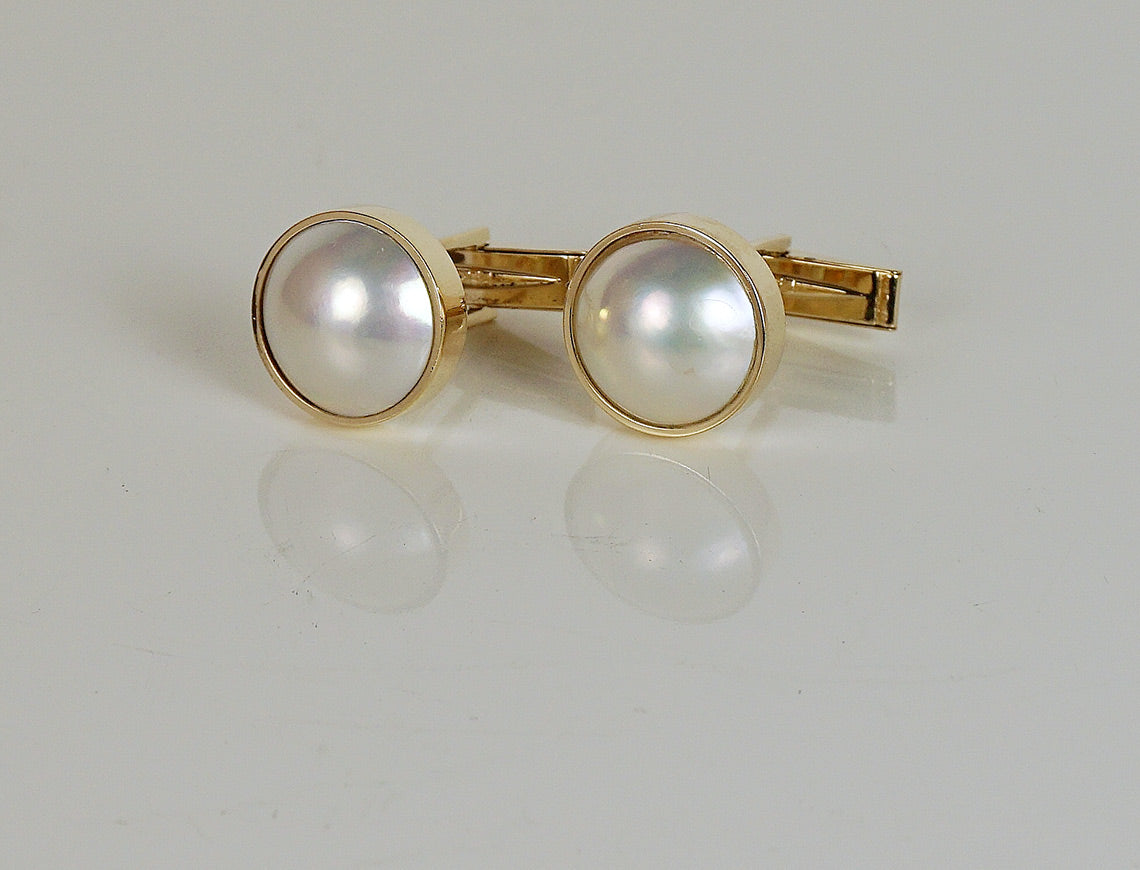 Mabe pearl cufflinks