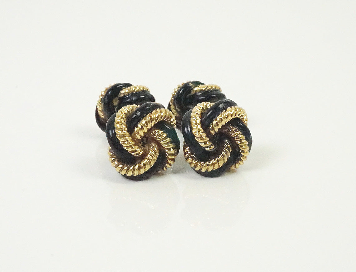 Enamel knot cufflinks by Tiffany