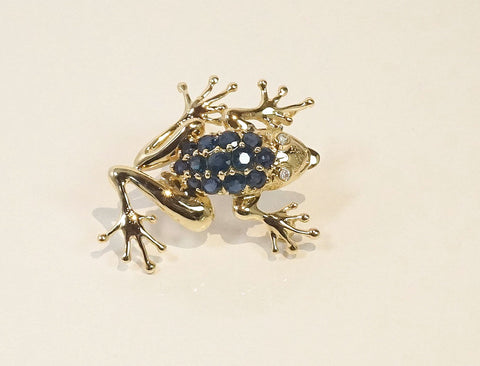 A jewel-encrusted frog