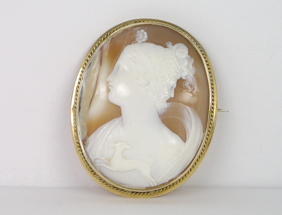 Double image cameo of Diana