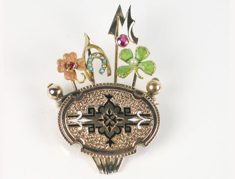 19th Century stick pin brooch