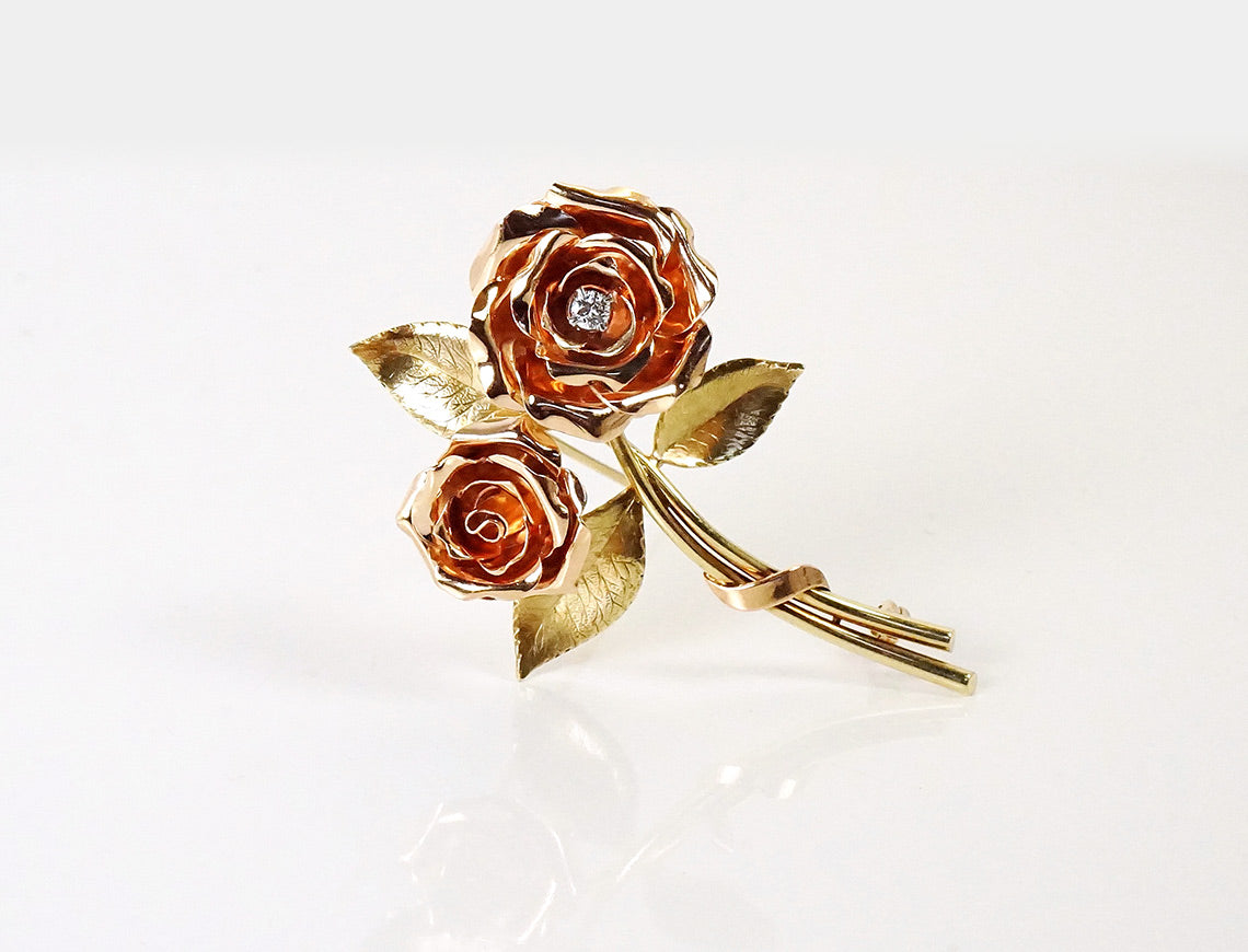 Retro rose brooch by Tiffany