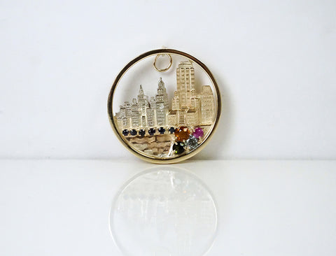 Chicago skyline pendant