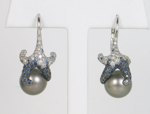 """Starfish"" earrings by Mikimoto"