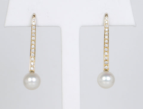 Contemporary pearl and diamond drops