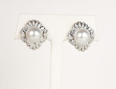 South Sea pearls and diamonds