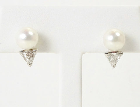 8.25 mm cultured pearl earrings
