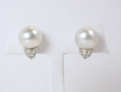 South Sea pearl clips