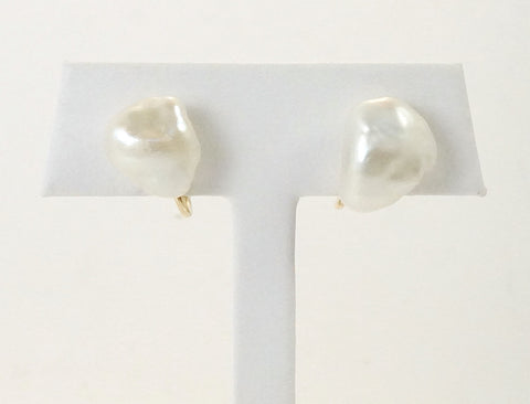 Baroque fresh water pearl clips