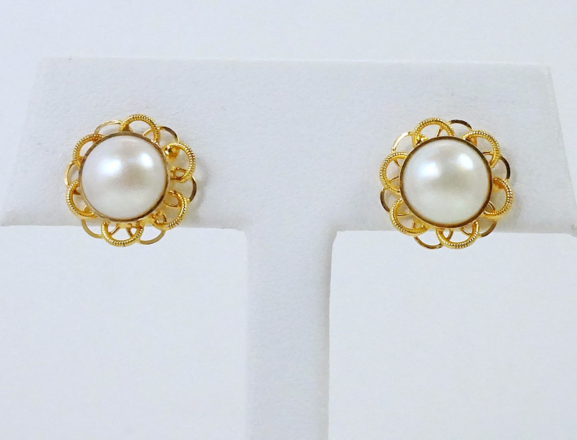 Mabe pearls in 22K gold