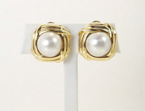 Mabe pearl earrings by Tiffany