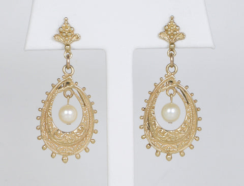 Antique reproduction pearl dangles