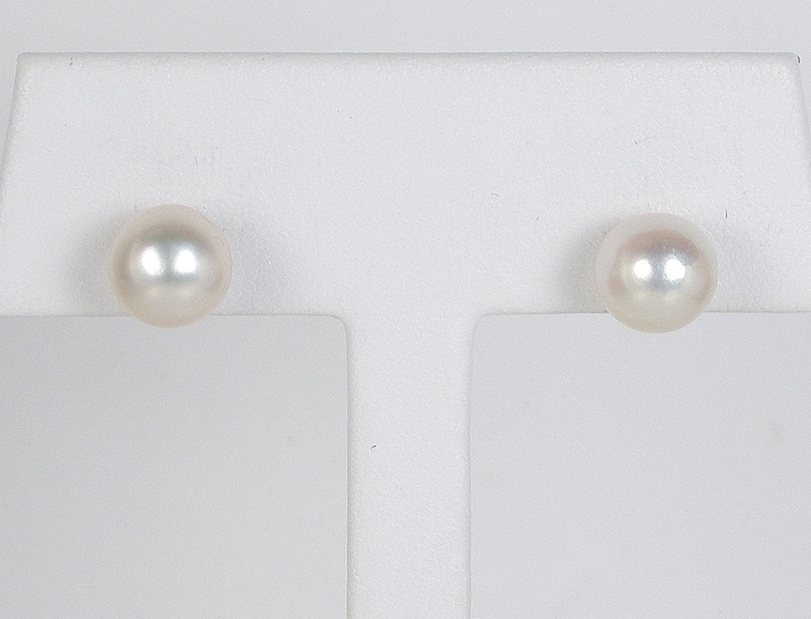 earrings sterling pearl stud silver min