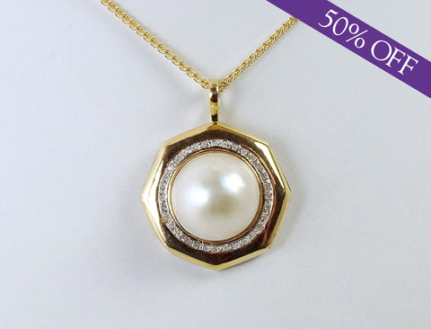 Mabe pearl and diamonds - ORIGINAL PRICE: $560