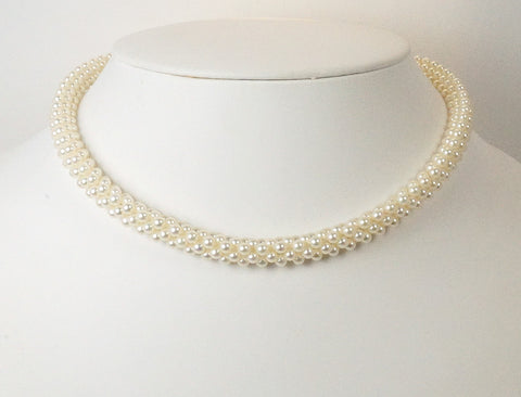 Woven necklace by Mikimoto