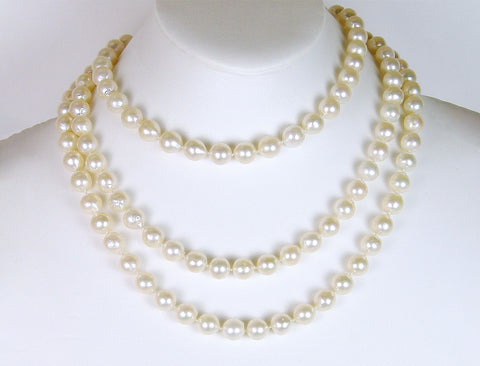 Endless strand of 9mm cultured pearls