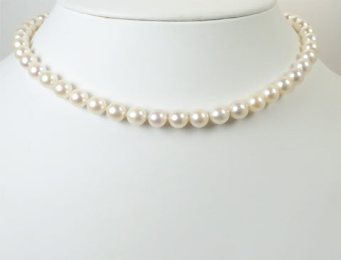7.5mm cultured pearl strand