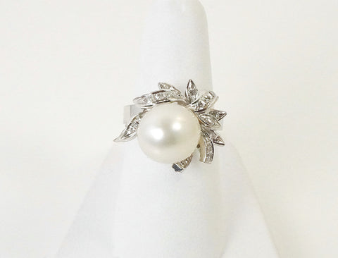 South Sea pearl and diamonds