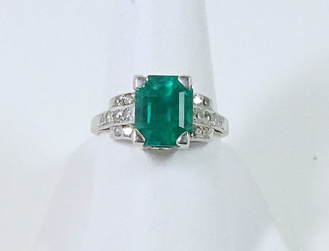 3.95 carat Colombian emerald
