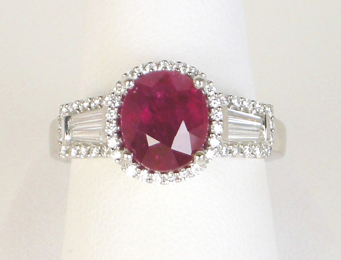 Three carat ruby ring