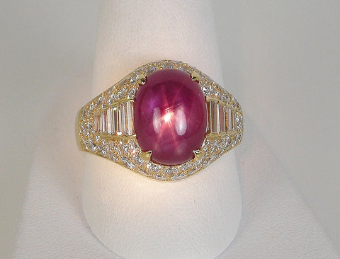 Star ruby ring by Bulgari